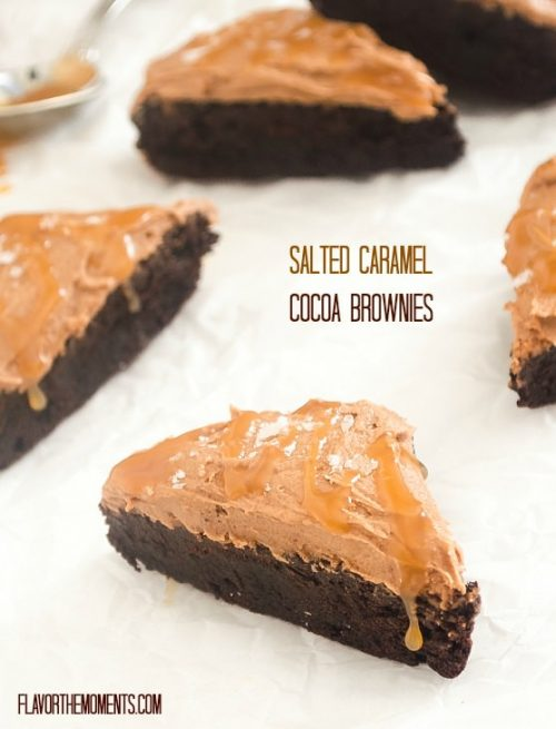 Salted caramel brownies with frosting