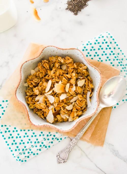 almond coconut chia seed granola4 | flavorthemoments.com