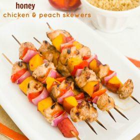balsamic honey chicken peach skewers1| flavorthemoments.com