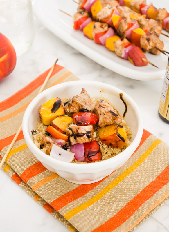 balsamic honey chicken peach skewers6 | flavorthemoments.com