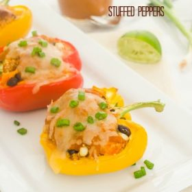 quinoa enchilada stuffed peppers1 flavorthemoments.com
