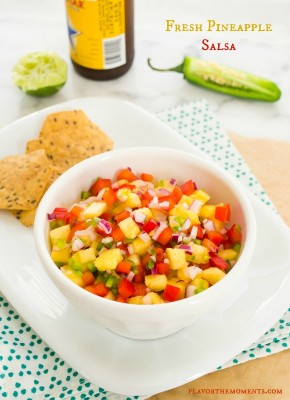 fresh pineapple salsa1 | flavorthemoments.com