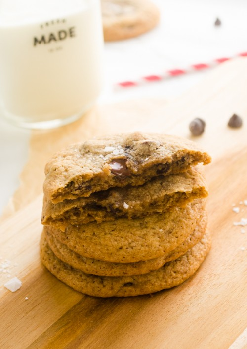 salted chocolate chip espresso cookies5 | flavorthemoments.com
