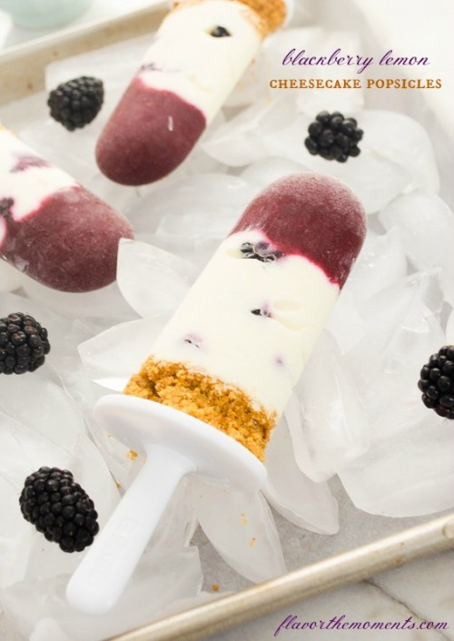 blackberry lemon cheesecake popsicles1 | flavorthemoments.com