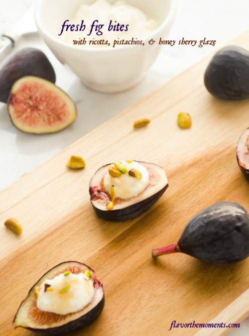 fresh-fig-bites-with-ricotta-pistachios-and-honey-sherry-glaze1 |  flavorthemoments.com