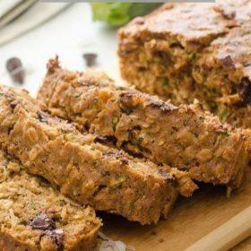healthy zucchini oatmeal bread pin