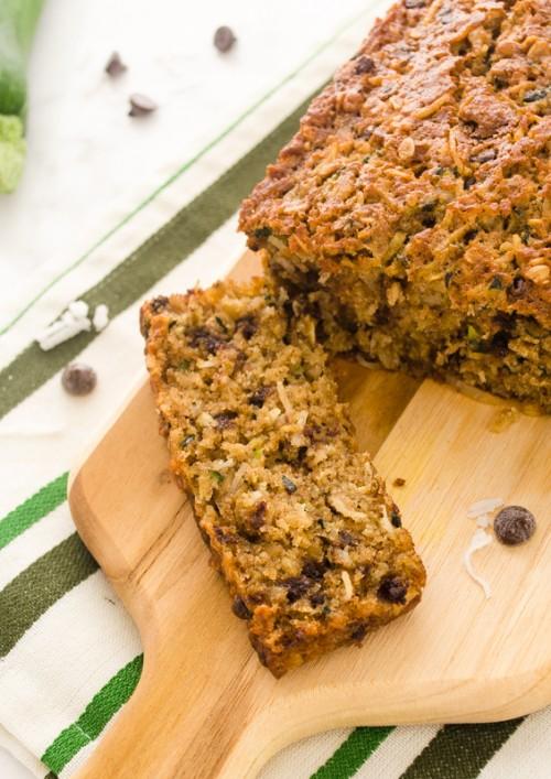 oatmeal coconut chocolate chip zucchini bread2 | flavorthemoments.com