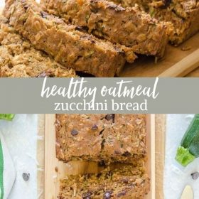 healthy zucchini bread collage pin