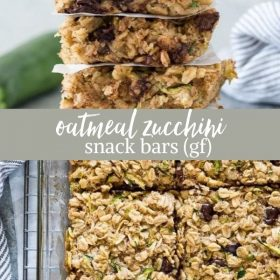 zucchini oatmeal chocolate chip bars collage