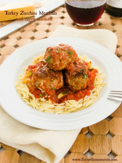 turkey-zucchini-meatballs-with-veggie-marinara1 | flavorthemoments.com