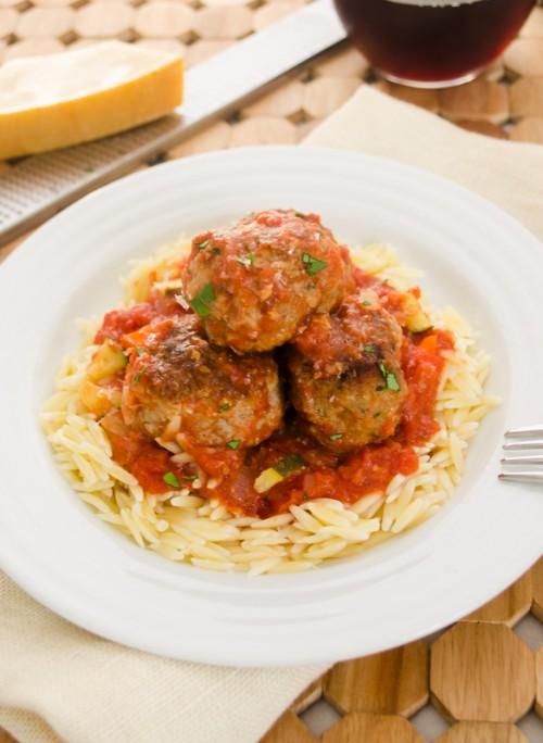 turkey-zucchini-meatballs-with-veggie-marinara2 | flavorthemoments.com