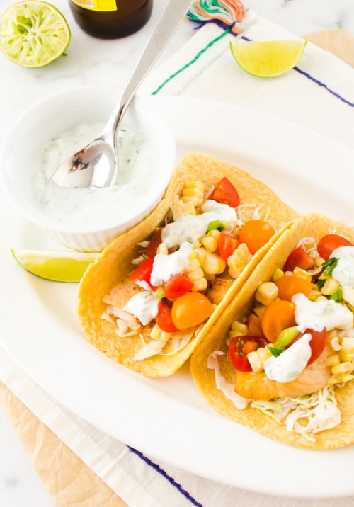 healthy-30-minute-fish-tacos-with-cherry-tomato-corn-salsa3 | flavorthemoments.com