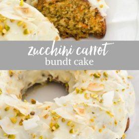 zucchini carrot bundt cake collage