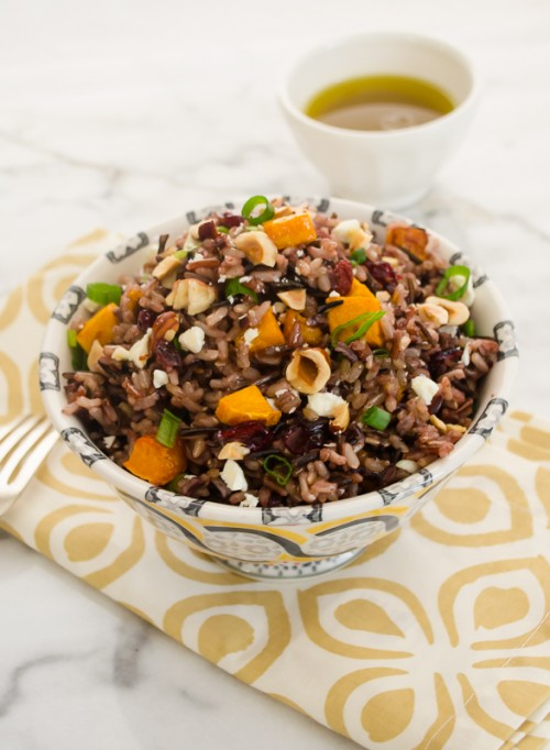 harvest-wild-rice-salad-with maple-vinaigrette2 | flavorthemoments.com