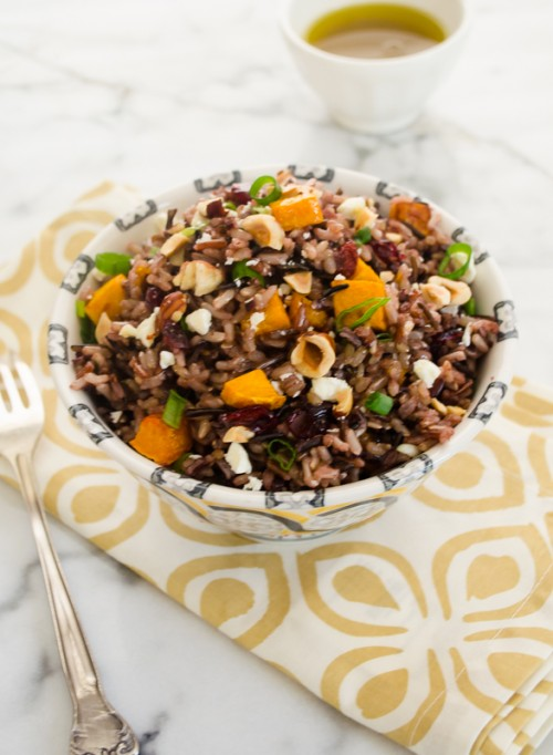 harvest-wild-rice-salad-with maple-vinaigrette4 | flavorthemoments.com