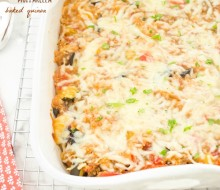 ratatouille-smoked-mozzarella-baked-quinoa1 | flavorthemoments.com