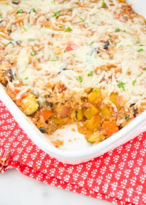 ratatouille-smoked-mozzarella-baked-quinoa3 | flavorthemoments.com
