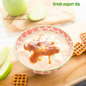 salted-caramel-greek-yogurt-dip1 | flavorthemoments.com