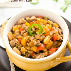 turkey sausage jalapeno white bean chili1 | flavorthemoments.com