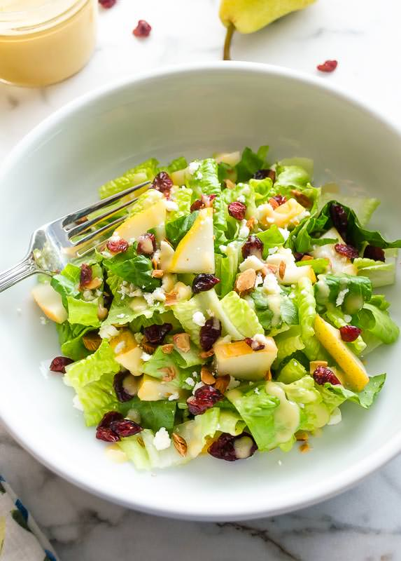 cranberry-pear-salad-with-fresh-pear-vinaigrette4 | flavorthemoments.com