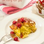 eggnog baked french toast with cranberry maple syrup1 | flavorthemoments.com