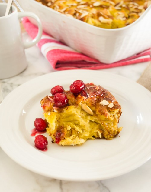 eggnog baked french toast with cranberry maple syrup5 | flavorthemoments.com