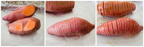 hasselback sweet potato collage | flavorthemoments.com