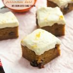 sweet persimmon bars with brown butter orange frosting1 | flavorthemoments.com