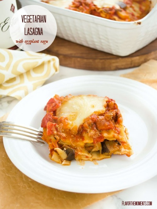 vegetarian lasagna with eggplant ragu1 |  flavorthemoments.com