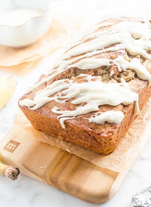 brown-butter-eggnog-banana-bread-with-cream-cheese-glaze2 | flavorthemoments.com
