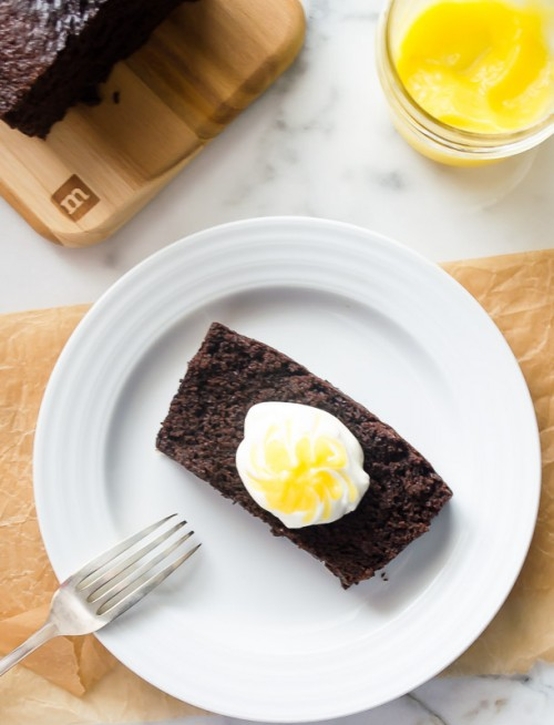 spicy-espresso-gingerbread-loaf-with-lemon-curd-cream2 | flavorthemoments.com