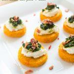 sweet-potato-polenta-crostini-with-ricotta-kale-pesto-and-bacon1 | flavorthemoments.com