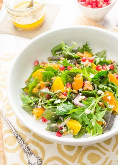 golden-beet-orange-pomegranate-salad4 | flavorthemoments.com