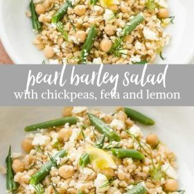 barley salad collage