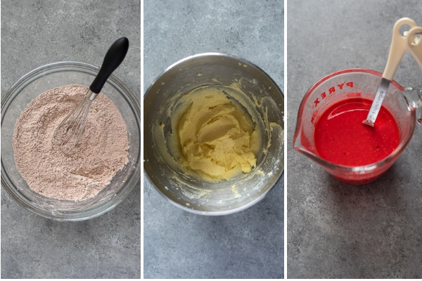 How to make red velvet cupcakes process collage 1