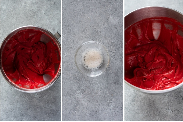 How to make red velvet cupcakes process collage 2