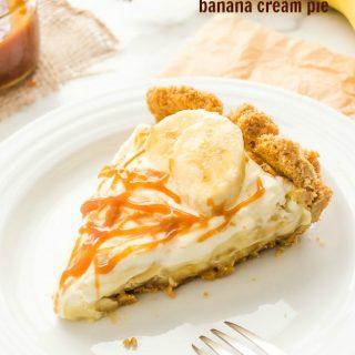 Salted Caramel Banana Cream Pie