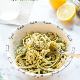 spicy-shrimp-linguine-with-kale-pesto1 | flavorthemoments.com