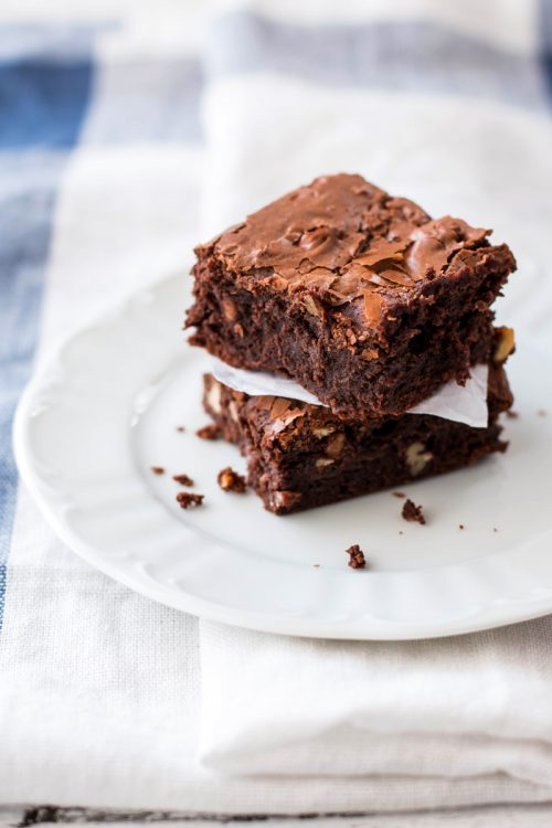 Stack of world\'s best brownies