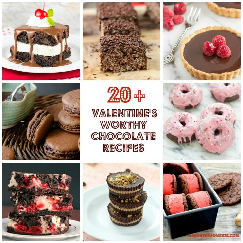 Collage of chocolate dessert recipes