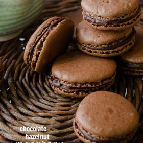chocolate-hazelnut-macarons1 | flavorthemoments.com