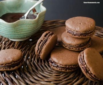 chocolate-hazelnut-macarons6 | flavorthemoments.com