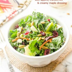 kale-slaw-with-apples-cranberries-and-creamy-maple-dressing1 | flavorthemoments.com