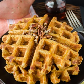 whole-wheat-sweet-potato-waffles | flavorthemoments.com