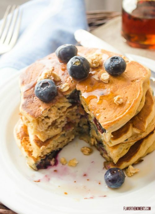blueberry-granola-crunch-pancakes4 | flavorthemoments.com