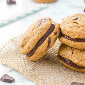 flourless-almond-butter-chocolate-chunk-sandwich-cookies1 | flavorthemoments.com