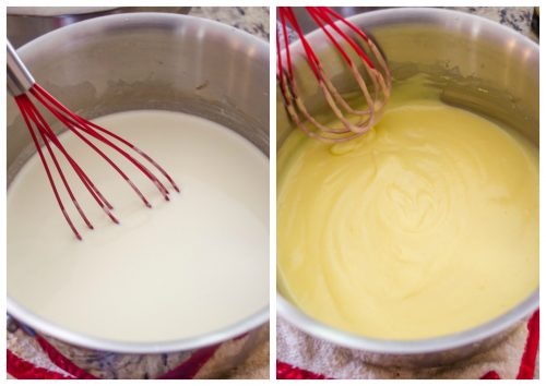 How to make pastry cream process collage 3