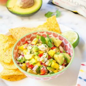 shrimp-ceviche-mango-avocado-salsa1 | flavorthemoments.com