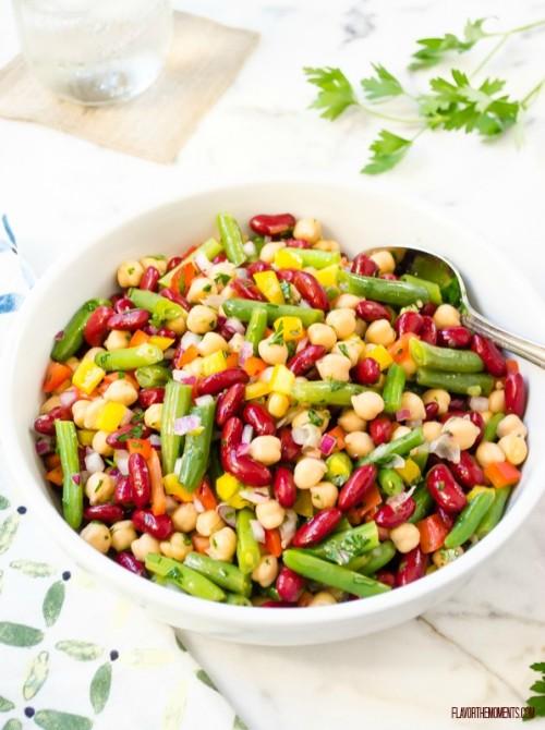 fresh-and-easy-three-bean-salad1 | flavorthemoments.com