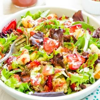 strawberry-fields-panzanella-salad-with-strawberry-balsamic-vinaigrette1 | flavorthemoments.com